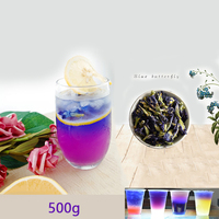 1bag 500g Clitoria Ternatea dry flower kitchen toy tea . thailand Blue Butterfly Pea tea simulation play house toy.Vitamin A