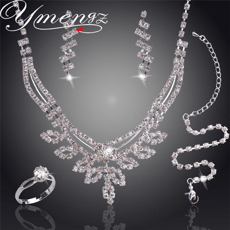 YMENGZ Swaying Pendant Jewelry Sets Silvs