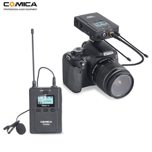 Comica CVM-WM200C 96-Channel UHF Wireless Lavalier Microphone System for Canon Nikon DSLR Cameras,XLR Camcorders & Smartphones