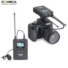 цена Comica CVM-WM200C 96-Channels UHF Wireless Lavalier Lapel Microphone System for Canon Nikon Sony DSLR Cameras,XLR Camcorders онлайн в 2017 году