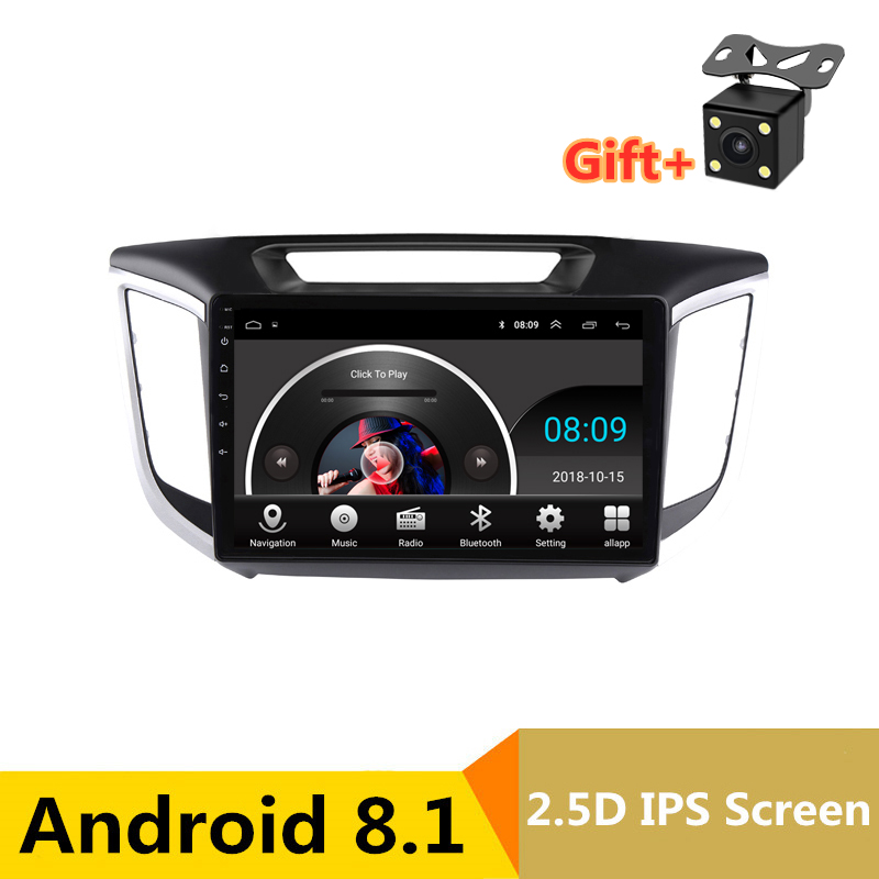 "10"" 2.5D IPS Android 8.1 Car DVD Multimedia Player GPS for Hyundai creta ix25 2014 2015 2016 2017 audio radio stereo navigation"