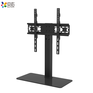 """Image 4 - Universal Table TV Stand for 32 65"""" LCD LED Screen Height Adjustable Monitor Desk Bracket with Tempered Glass Base VESA400x400mm"""