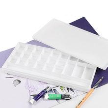 Пластиковая квадратная палитра гуашь краска коробка офисные
