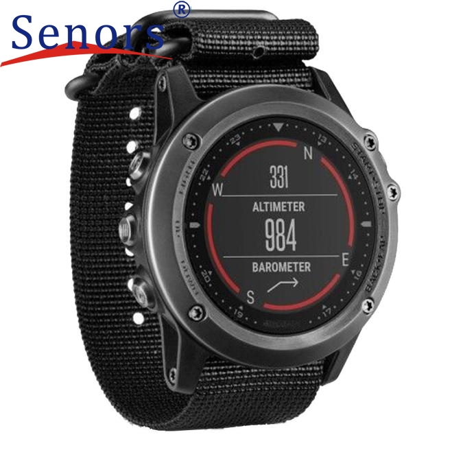 Luxury Nylon Strap 5 Ring Watch Replacement Band For Garmin Fenix 3  new design 2017 spring hot sale Dec15 send in 2 days luxury leather strap replacement watch band with tools for garmin fenix 3 100% brand new free shipping sep14