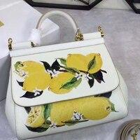 Unbelievable Charm! Perfect Quality! Lemon Bag, Lovely Fruit Pack, Printed Female, Simple, Single Handed, Shoulder Bag, Hand Bag