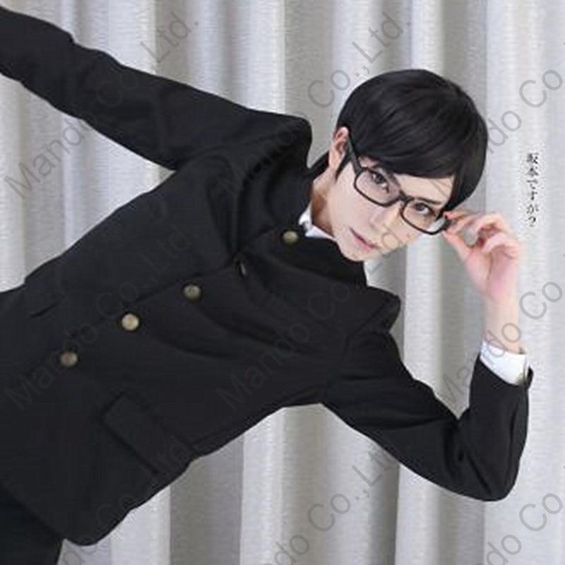 Anime Sakamoto Desu Ga? Sakamoto Cosplay Kostymer Gutter Japansk - Kostymer - Bilde 4