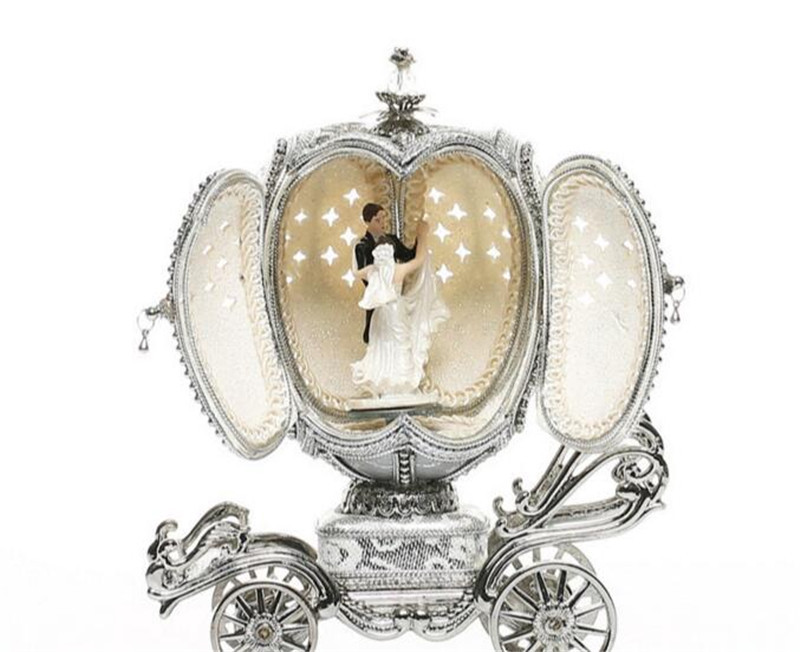 Egg Carving Dancing Ballerina Couples Music Box Jewellery Box Hand Cranked Musical Box Wedding For Women Girl Christmas Gift