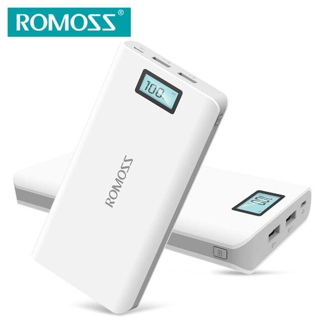 ROMOSS Sense6 /Sense6 Plus Power Bank 20000 мАч Двойной Выход USB