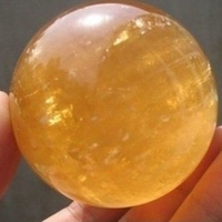 40mm Rare Yellow Natural Stones Feng shui Crystal Ball and Minerals Amber Raw Quartz Crystals Figurines Ball Gifts Drop Shipping