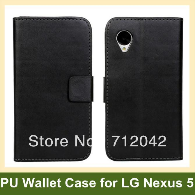 Colorful PU Leather Wallet Flip Cover Case for LG Nexus 5 E980 Wallet Flip Cover Case for Google Nexus 5 Free Shipping