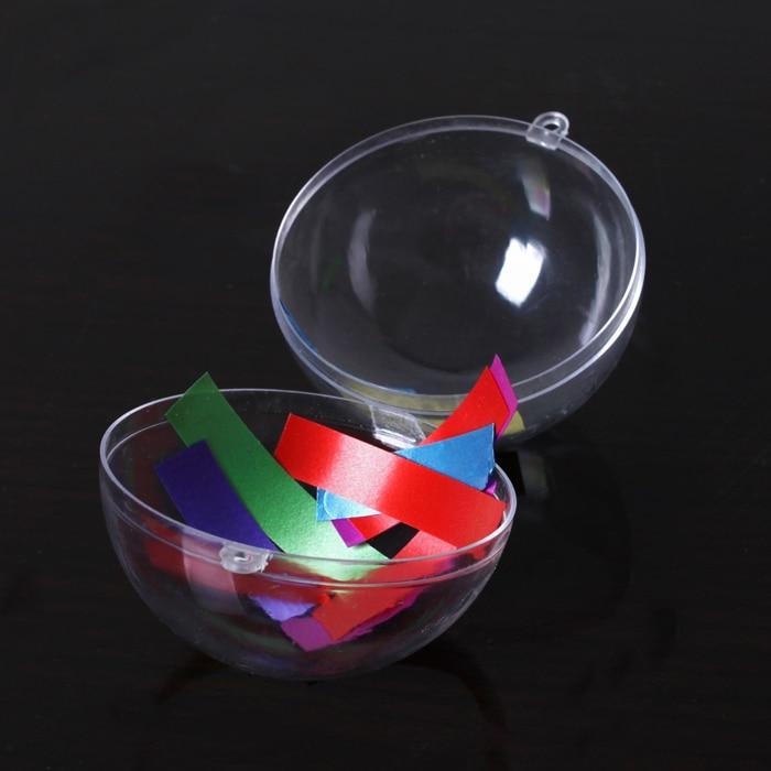 10pcs DIY Romantic Design Christmas Decorations Ball Transparent Can Open Plastic Cristmas Clear Bauble Ornament Gift Present