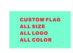 Bandera personalizada 90*150cm todo el logotipo todo Color banderas reales banderas con manga