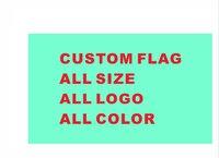 Custom Flag 90*150cm 100pcs All Logo All Color Royal Flags Banners With Sleeve Gromets