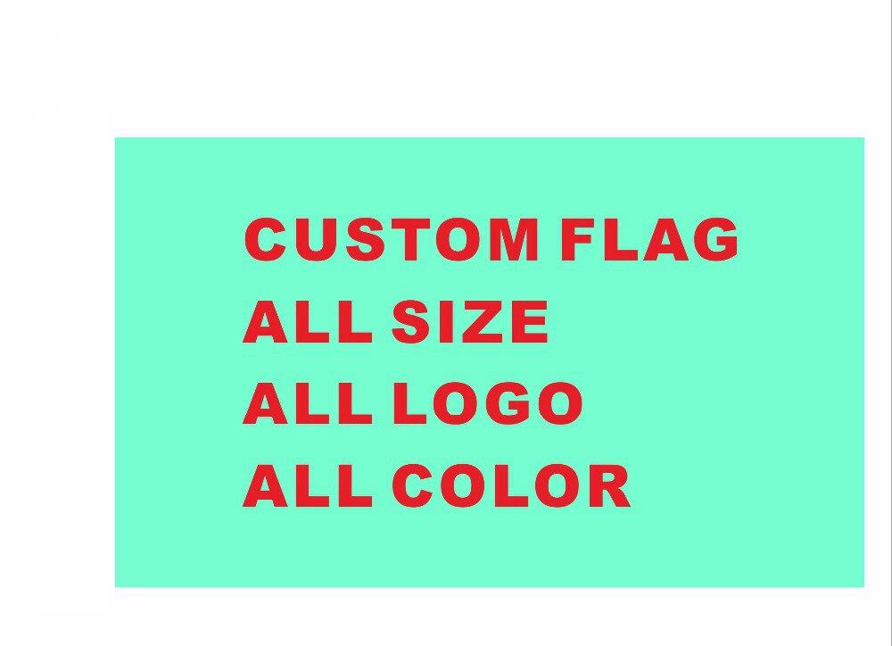 Drapeau personnalisé 90*150 cm 100 pièces tous les Logo toutes les couleurs drapeaux royaux bannières avec œillets de manches
