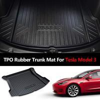 Rubber trunk mat For Tesla Model 3 2017 2018 2019 accessories Black Car Trunk Floor Mats Cargo Liner Rear Cargo Tray