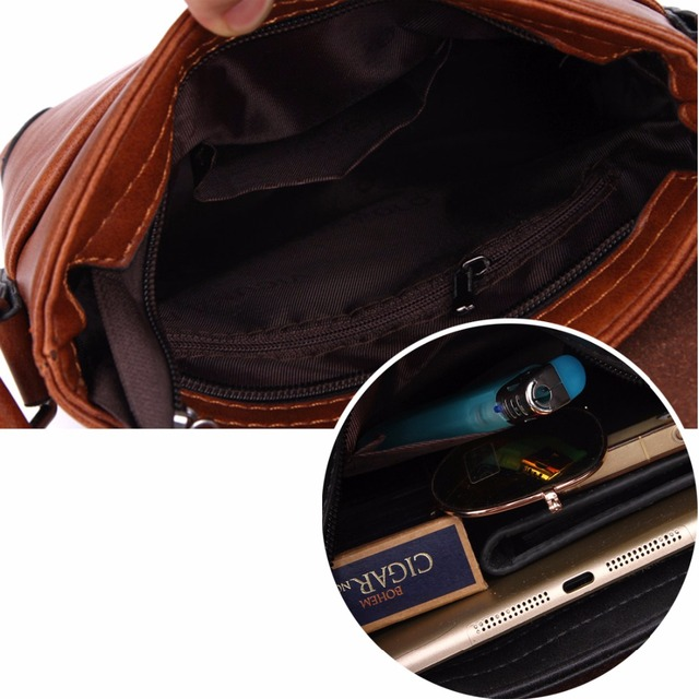 Unique Thread Design Mens Frosted PU Leather Messenger Bag Small Leisure Mens Bag Promotional Men Shoulder Bag 5