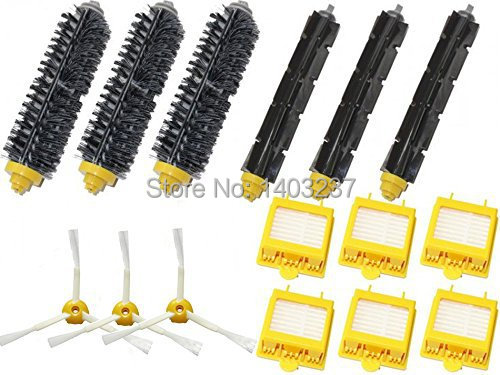 Hepa Filters Bristle Brush Flexible Beater Brush 3-Armed Side Brush Cleaner For iRobot Roomba 700 Series 760 770 780 790