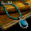 Especial nueva moda Maxi collar collares de piedra Natural pendiente grande regalos de joyas de época para las niñas mujeres XL150306
