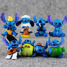 Kid's Toys 8pcs/lot Stitch Figures Lilo Stitch PVC Action Figure Toys Doll Collectible Model Toy For Home Decoration Gift