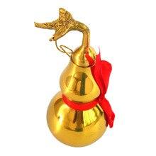 4″ Feng Shui Brass Wu Lou/ Hu Lu Gourd
