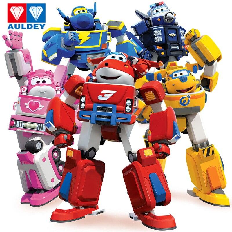 Más nuevo gran armadura de deformación Super wings rescate Robot figuras de acción Super Wing Transformation Fire Engines Juguetes