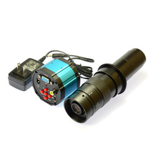 Wholesale prices HD 2.0MP VGA AV 1080P  Industry Lab Digital Inspection Microscope Camera  + 180X C-MOUNT Zoom Lens