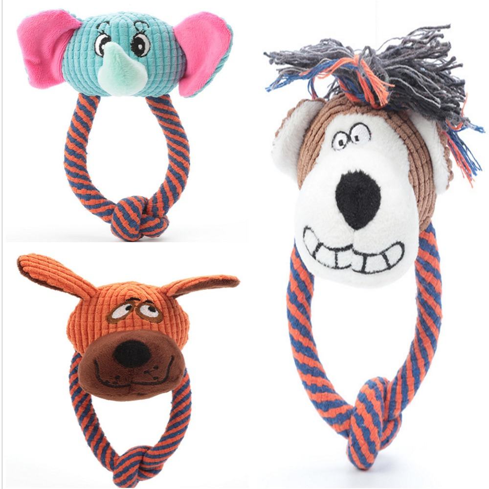 Dog Chew Toys For Small Medium Dogs Bite Resistant Dog Squeaky Elephant Toys Interactive Squeak Puppy Dog Toy Pets Supplies