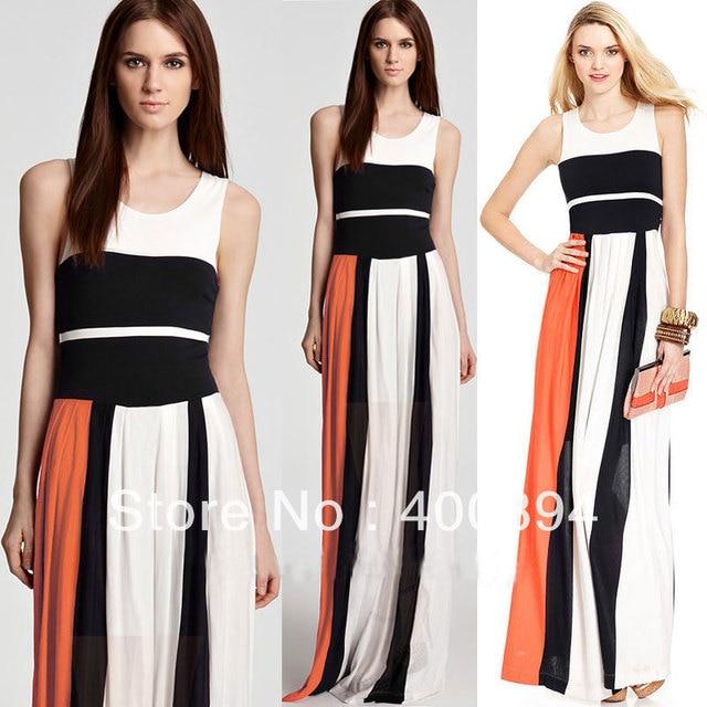 Color block maxi dress wholesale