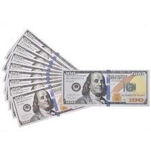 Поддельные деньги-100-пакет копия $100 сто долларов купюр, Реалистичная Игра, которая выглядит реальным, двухсторонний вид реквизит