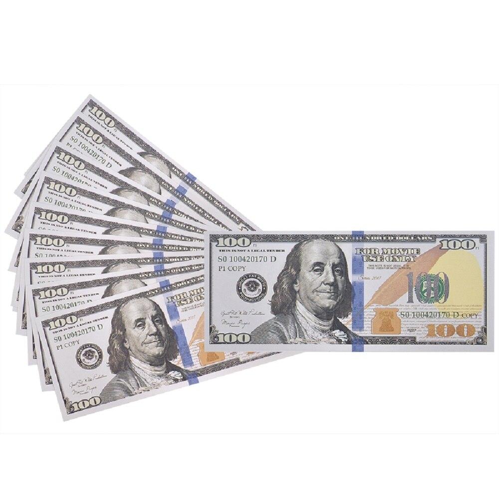 Besorgt Gefälschte Geld-100-packung Kopie $100 Hundert Dollar Bills, Realistische Spielen Geld, Dass Sieht Echt Aus, Doppelseitige Pretend Spielen Prop