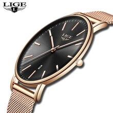 LIGE Women's Watches Top Brand Luxury
