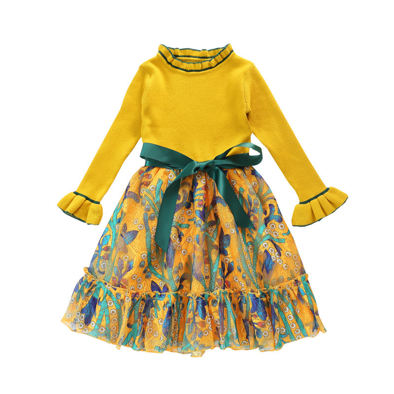 Girls Dress Winter Children Clothing Kids Dress for Wedding Party Toddler Long Sleeve Princess Brand Fashion 2020 Spring Summer 5