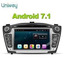 Uniway android 7.1 samochodowy odtwarzacz dvd gps dla Hyundai Tucson IX35 2009 2010 2011 2012 2013 stereo nawigacji samochodowej