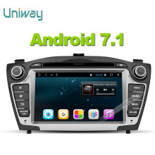 Uniway  android 7.1 car dvd player gps for Hyundai IX35 Tucson 2009 2010 2011 2012 2013 stereo car navigation