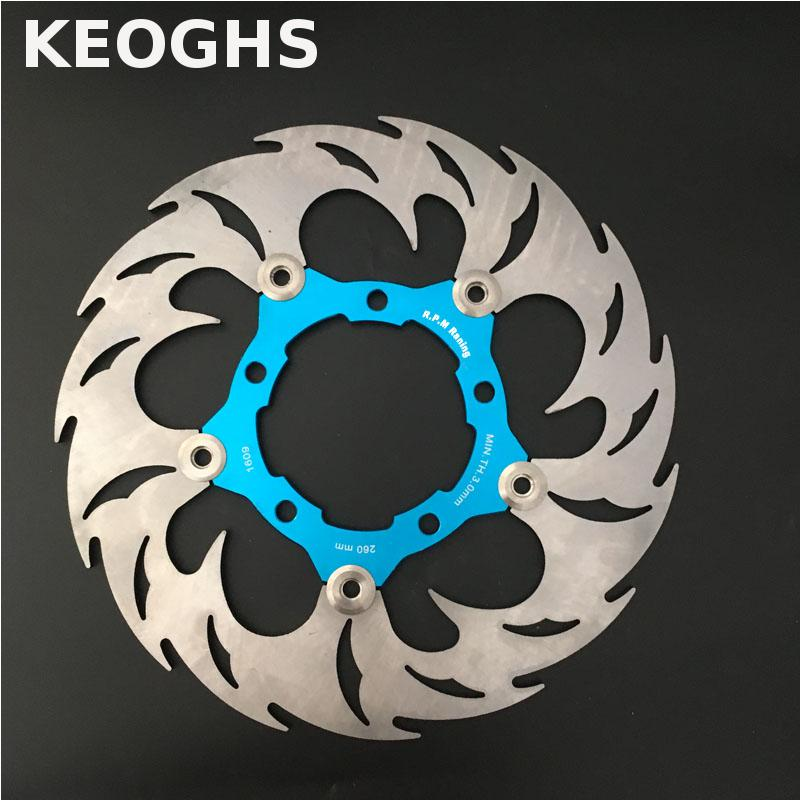 KEOGHS Motorcycle Brake Disc/brake Rotor Floating 260mm/82mm Diameter For Yamaha Scooter Bws Cygnus Front Disc Replace Modify keoghs motorbike rear brake caliper bracket adapter for 220 260mm brake disc for yamaha scooter dirt bike modify