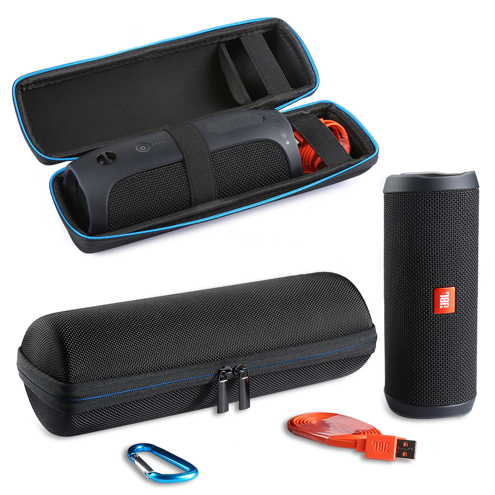 Capa para Flip4 sem Fio Adicional para Plug 2019 Nova pu Carry Protective Carry Case Bluetooth Speaker Jbl Virar 4 Espaço & Cabos