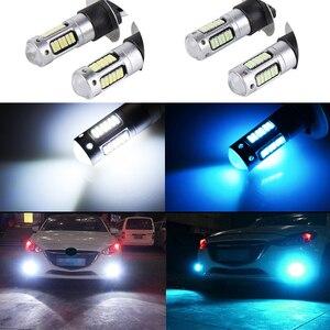 Image 4 - 2X H1 السيارات LED الضباب مصباح عالية الطاقة LED مصابيح سيارة 4014 DRL النهار تشغيل أضواء خارجية يوم القيادة سيارة الأبيض الجليد الأزرق