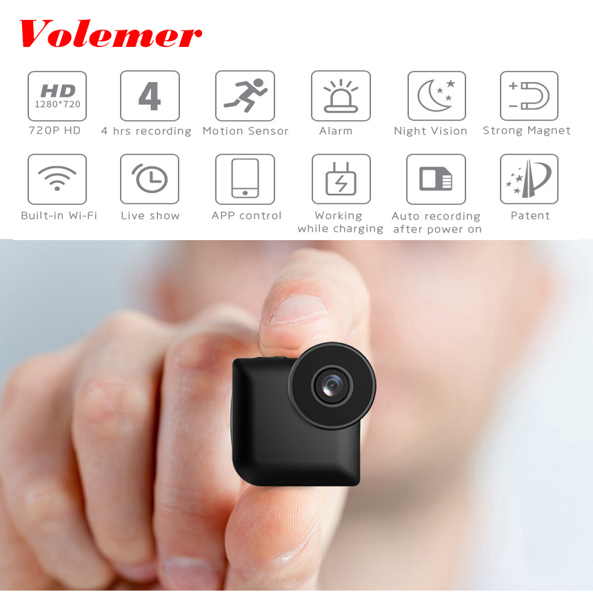 Volemer C3 Wifi mini camera Wireless IP Control 720P hd Vehicle camera Night Version Mini DVR camera Motion Sensor mini Kamera