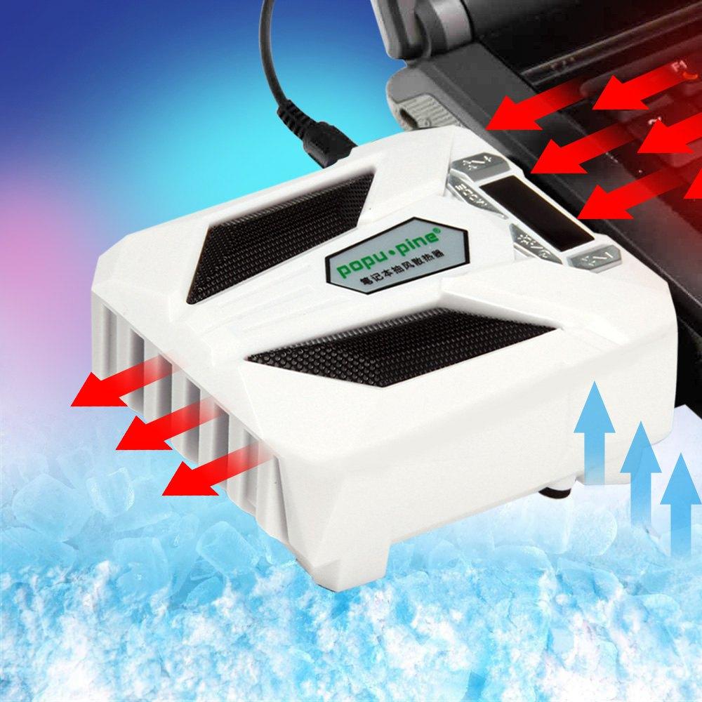 New Special Suction Fan Type Ultra silent Heat Sink Notebook Cooling Fan Laptop Radiator with LCD screen Two modes Fan- US Plug laptop fan store v470 v470a v470g b470 notebook fan