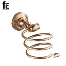 fiE Bathroom Accessories Hair Dryer Holder Modern Wall-mounted Rack Space Aluminum Bathroom Shelf Storage Holder