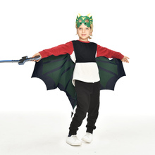 3-9 Y.O Special Green Dinosaur Wing Halloween Costumes Boys Dinosaur Themed Show Holiday Toys Purim Costume Gifts adult green dinosaur inflatables halloween christmas rave party spoof clothes dinosaur toys mount