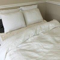 Белый французский из стираного льна лист льна льняные простыни детская кровать крышка плоской подошве белье постельное белье Лето и Осень