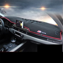 Car styling dashboard Avoid light pad Instrument platform desk cover Mats Carpets For Audi A4 2017 Auto accessories Interior