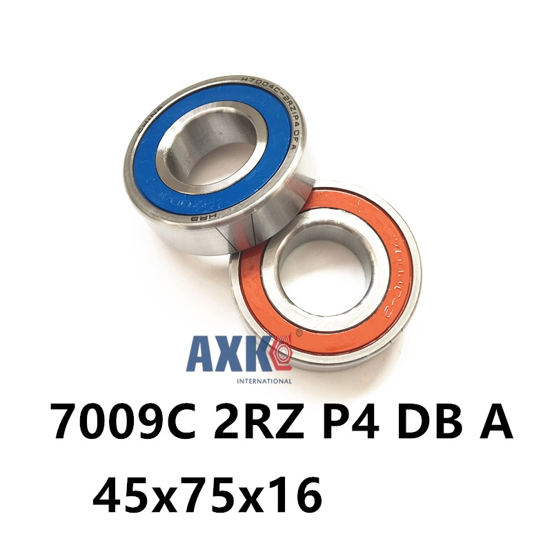 1 Pair AXK 7009 7009C 2RZ P4 DB A 45x75x16 45x75x32 Sealed Angular Contact Bearings Speed Spindle Bearings CNC ABEC-7 1 pair mochu 7009 7009c 2rz p4 db a 45x75x16 45x75x32 sealed angular contact bearings speed spindle bearings cnc abec 7