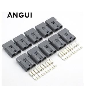 Image 1 - 10 セット × 600V 50A SMH 黒、グレー、赤 SH50 プラグコネクタダブルポール銅接点ソーラーパネルキャラバンバッテリー