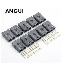 10 סטים x 600V 50A סאן שחור אפור אדום SH50 תקע מחבר כפול מוט עם נחושת מגעים שמש פנלים קרוואנים סוללה