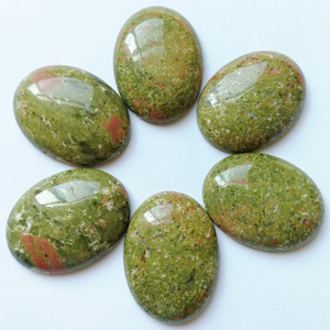 Image 2 - Cuentas de piedra natural para la fabricación de joyas, cabujón ovalado, 30x40MM, sin abalorio, anillos mixtos, accesorios, 12 Uds.