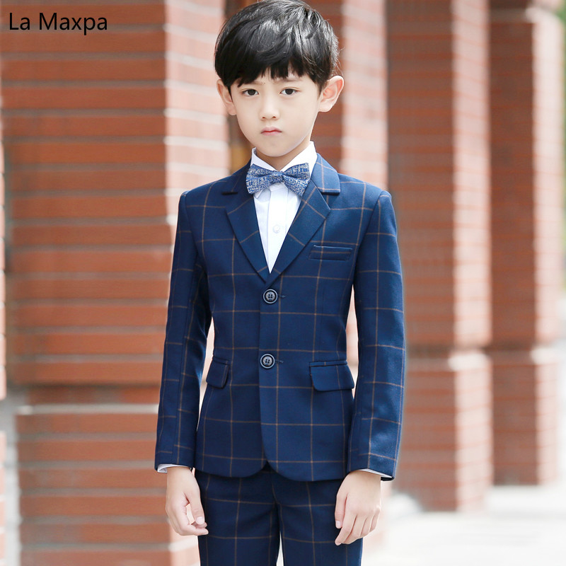 Children 's Birthday Party Wedding Formal Clothes Suits Piants Babys Gifts Piano Host Show Long Sleeve Children's Sets