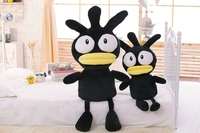 いたずら と クール悪い BADTZ-MARU ox黒ペンギン付き ブラック ボディ と黄色口ぬいぐるみ ぬいぐるみ漫画の おもちゃ柔らかい ギフト 55/65 セン