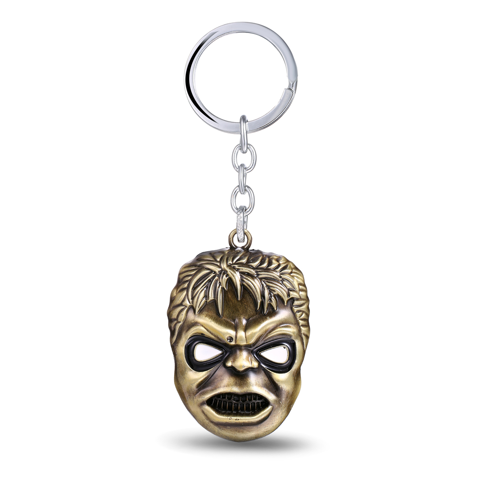 MS JEWELS Movie Fans Gifts Robert Bruce Banner Key Chain Hulk Bronze Metal Key Rings Present Jewelry